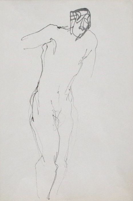 Nude-2906 (17.5x9) Black Ink on Paper.JPG